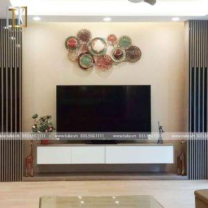 Kệ tivi treo tường 2 ngăn kéo gỗ chống ẩm KTV 14