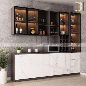 Tủ rượu phòng khách gỗ cao cấp