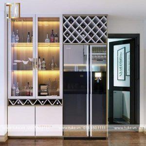 Tủ rượu gỗ công nghiệp phòng khách TR 11