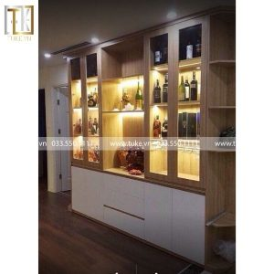 Tủ rượu vang bằng gỗ phòng khách TR-01