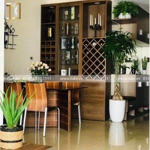 Tủ đựng rượu ngâm gỗ công nghiệp TR-09